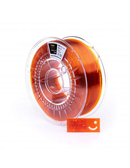 PET-G - 1,75 mm - Orange Glass - 1 Kg